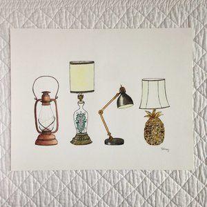 """""""Lamps"""" 11x14 Artwork Print"""